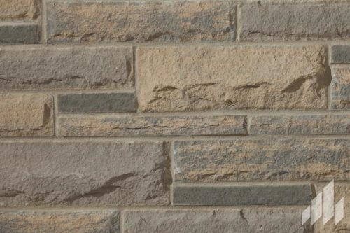 Sample of Arriscraft Laurier in the colour Midnight Grey With Onyx