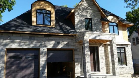 Indiana Lime Stone Custom Home - Richmond Hill