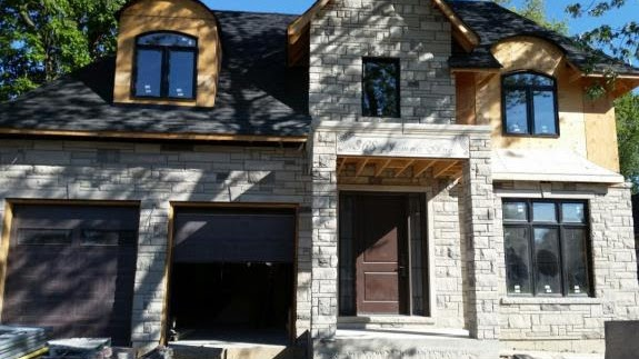 Indiana Limestore Buff Stone Refacing completed by Amplify Masonry