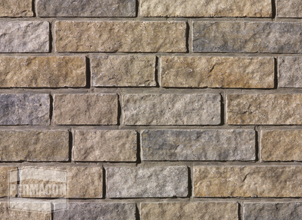 Permacon - Cinco - DUO range Amboise beige and Chambord grey