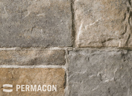 Permacon - Seigneurial Stone - Cream, Buffed and Black