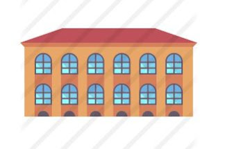 school building icon for commercial masonry