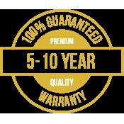 Warranty logo for all masonry restoration services